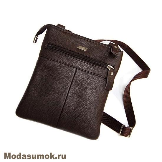 acdcfce617a9 Мужская сумка через плечо из натуральной кожи BB1 940082 коричневая ...
